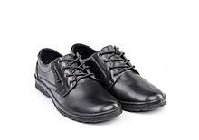 Чоловічі туфлі з натуральної шкіри арт 307 чорні TRAFFIC.