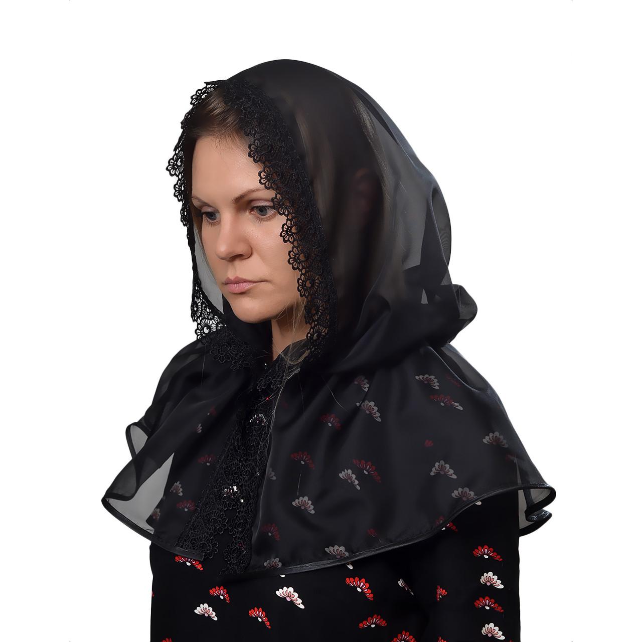 Платок Траурный Чёрный