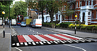 Резиновая плиточная ИДН с подвышением для пешеходного перехода