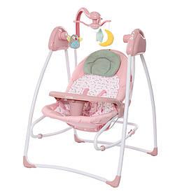 Кресло-качалка 3в1 Carrello Grazia CRL-7502 с рождения до 15 кг, Bow Pink