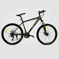 """Велосипед Спортивный CORSO EXTREME 26""""дюймов GREEN рама алюминиевая 17``, 21 скорость"""