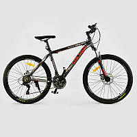 """Велосипед Спортивный CORSO GTR-3000 26""""дюймов GREEN-RED рама алюминиевая 17``, 21 скорость"""