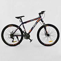 """Велосипед Спортивный CORSO SPIRIT 26""""дюймов BLUE-ORANGE рама металлическая 17``, 21 скорость"""