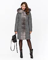 Зимнее шикарное пальто с мехом рр 42-50