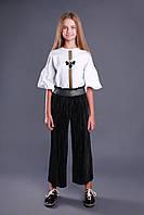 Модная школьная форма для девочки. Трикотажный топ на девочку MONE, Украина
