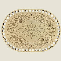 Овальное донышко для вязанных корзин Shasheltoys (100231.28) 280х370 мм