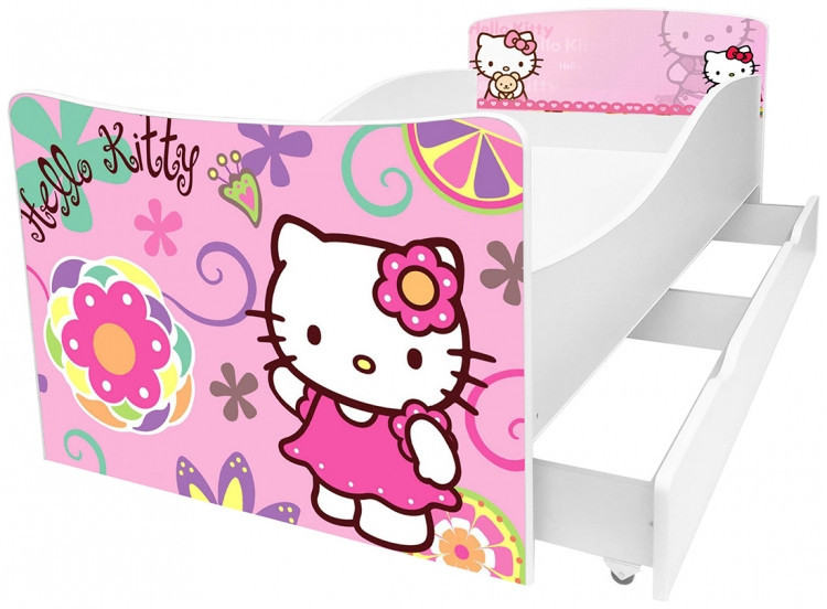 Детская кровать Киндер. 19. Hello Kitty.