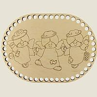 Овальное донышко для вязанных корзин Shasheltoys (100254.28) 280х370 мм