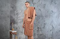 Набор для сауны и бани мужской, юбка с полотенцем, фото 1