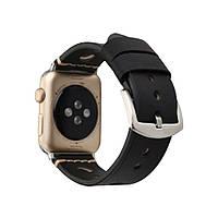 Ремешок Apple Watch Leather Bracelet Series Ancient 42/44 mm (Черный)