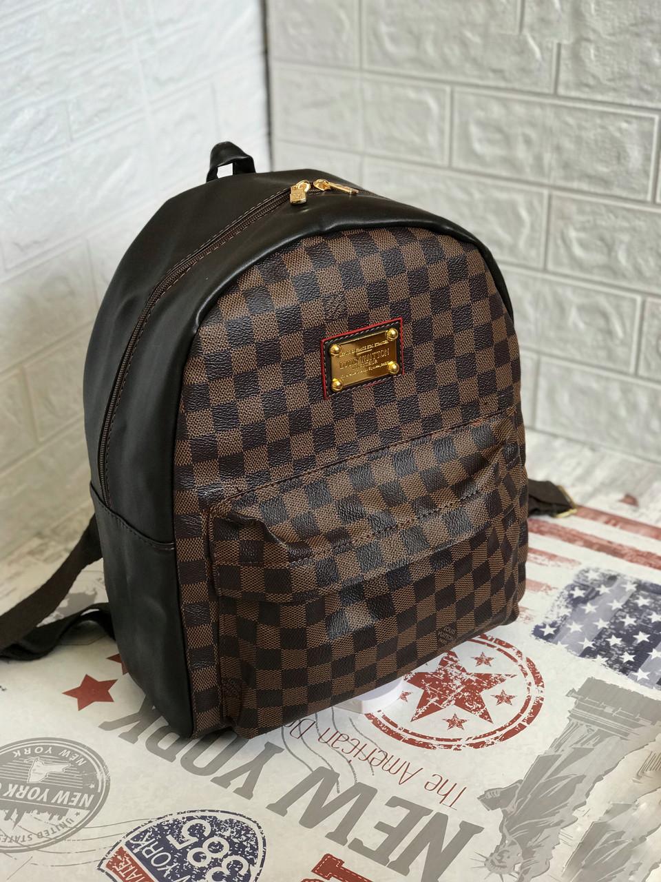 Рюкзак  портфель школьный/городской в стиле  Louis Vuitton LV ( Луи Витон) в клетку