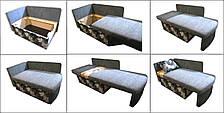 Диван дитячий Шпех 70см (Пугач+фіолетовий, малютка розкладний). Диванчик зі спальним місцем 2 метри, фото 2