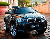 Детский электромобиль БМВ Х6 BMW X6 черный (белый, красный). JJ2199EBR-2. Колеса EVA, кож. сидение, свет, USB.