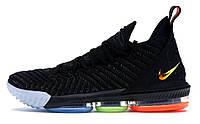 Мужские кроссовки Nike LeBron 16 I Promise (найк леброн 16, черные)