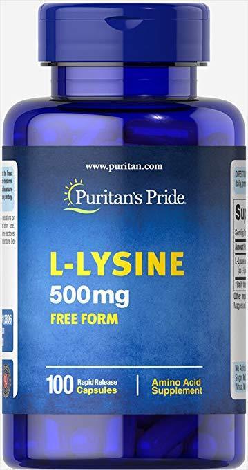 Аминокислота Puritan's Pride L-Lysine 500 mg 100 капс