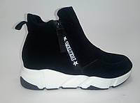 Женские замшевые демисезонные ботинки на платформе ТМ Lonza, фото 1