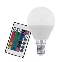 Лампа светодиодная диммируемая Eglo RGB P45 с пультом ДУ 4W (E14) 3000K 10682