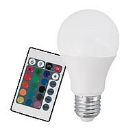 Лампа светодиодная диммируемая Eglo RGB с пультом ДУ A60 7