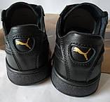 Puma classic! кроссовки кеды в стиле пума детские из черной  натуральной кожи для девочек и мальчиков! унисекс, фото 4