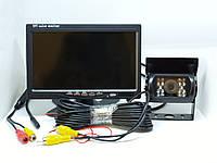 """Камера 170гр. IR15m. шорокоугольная IP68 с монитором 7"""" Caravan CMOS сенсор для грузовиков"""