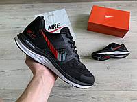 Мужские кроссовки Nike Air Zoom Pegasus + V30 Black White Red черные белые красные