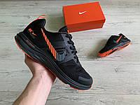 Мужские кроссовки Nike Air Zoom Pegasus + V30 Black Orange черные с оранжевым