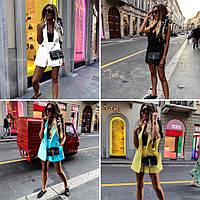 Костюм женский белый, чёрный, голубой, жёлтый, фото 1