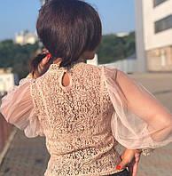 Блузка женская чёрная, бежевая