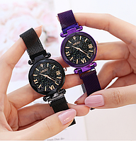 Часы женские Starry Sky золотые очень красивые 3 цвета