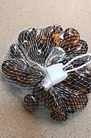 Камни для декора стеклянные круглые Янтарные d 2 см