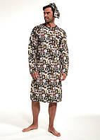Мужская ночная сорочка CORNETTE PM-110 643902, в комплекте колпак, 100 % хлопок, Польша