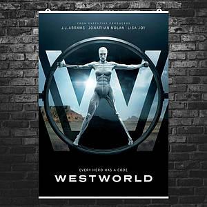 "Постер ""Мир Дикого запада, сезон 1"", Westworld. Размер 60x43см (A2). Глянцевая бумага"