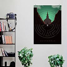 """Постер """"Мир Дикого запада, отражение"""", Westworld. Размер 60x43см (A2). Глянцевая бумага, фото 2"""