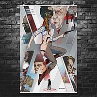 """Постер """"Мир Дикого запада"""", Westworld, фан-арт. Размер 60x40см (A2). Глянцевая бумага"""