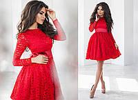 Гипюровое платье женское - Красный
