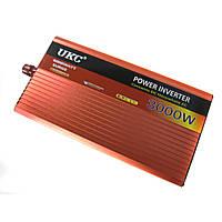 Перетворювач авто інвертор UKC 12V-220V AR 3000W c функції плавного пуску