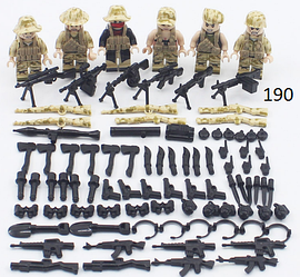 Фигурки swat спецназ военные солдаты Лего lego BrickArms бандиты Pugb