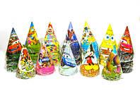 Колпачки праздничные на голову Мультфильмы 15см