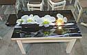 Стол трансформер Флай  белый  со стеклом ультрабелый, журнально-обеденный, фото 3