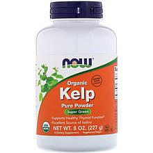 """Келп NOW Foods """"Organic Kelp Pure Powder"""" поддержка щитовидной железы, порошок (227 г)"""