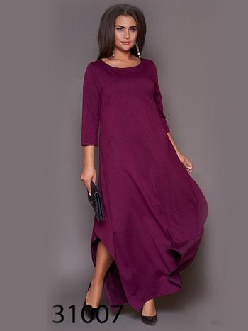 Женское свободное платье с рукавом три четверти р. 50, 54, 58, 62