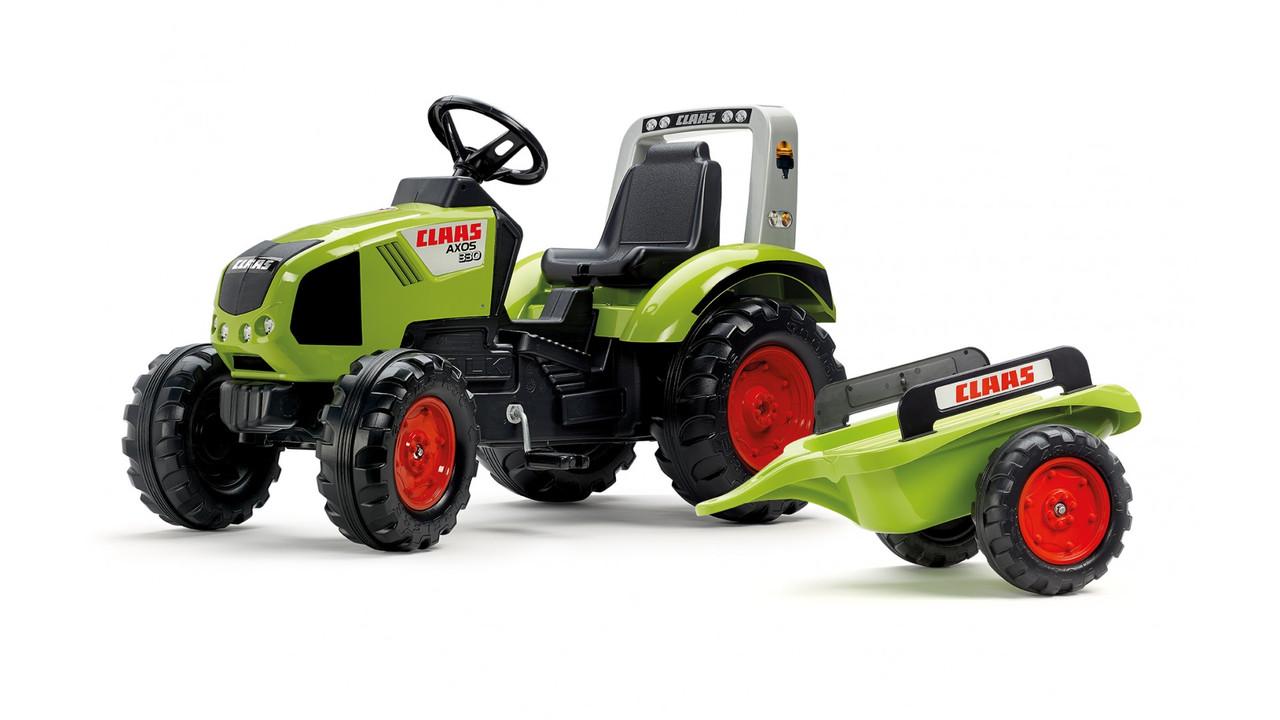 Педальный трактор Claas Axos 330 с прицепом Falk 1011AB