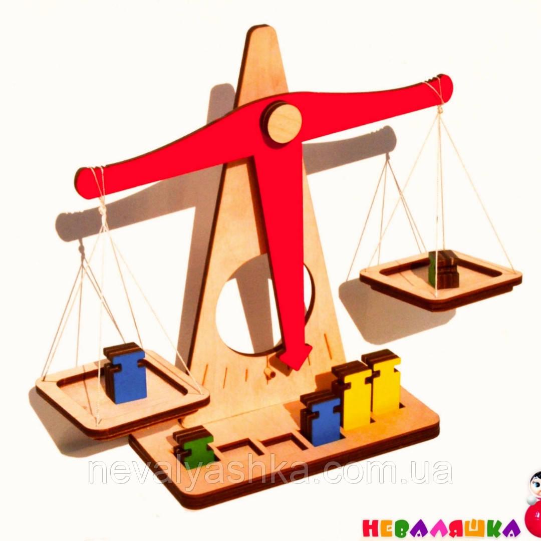 Купить Деревянные Весы - Конструктор игрушечные, детские игрушка Терези Дерев'яні Ваги, Неваляшка