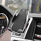 Автомобільний тримач сенсорний Penguin Smart Sensor S5 QI c бездротовою зарядкою 10w Black датчик рухів, фото 2