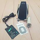 Автомобільний тримач сенсорний Penguin Smart Sensor S5 QI c бездротовою зарядкою 10w Black датчик рухів, фото 5