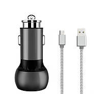 АЗУ Ldnio C503Q Car Charger Set (Lightning) (2 USB)(3 A) — Black