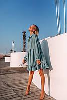 Платье женское нарядное желтое бежевое бирюза