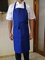 Поварской фартук синий. Ткань: саржа.