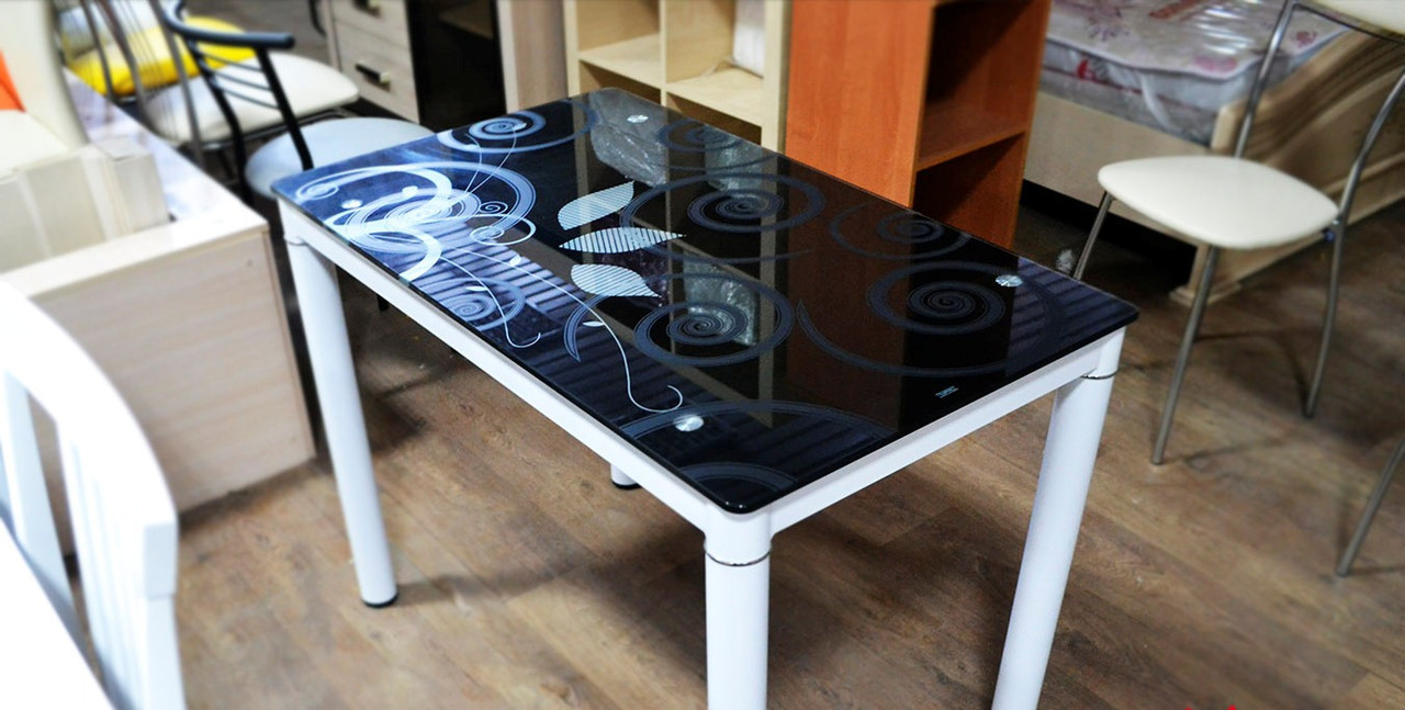 Стіл склянний Damar (5 кольорів) 100х60