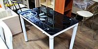 Стіл склянний Damar (5 кольорів) 100х60, фото 1